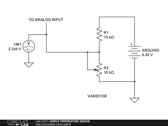 simple temperature sensor circuitlab rh circuitlab com temperature sensor circuit project temperature sensor diagram