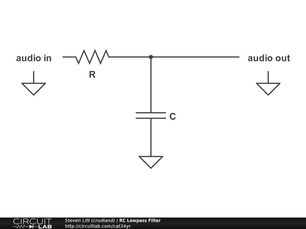Rc Lowpass Filter Circuitlab Low Pass Diagram Circuit