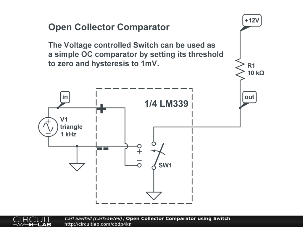 Simple Voltage Comparator Circuit Golfclub Looking At Window Circuits