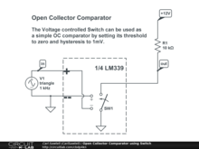 Open Collector Comparator using Switch