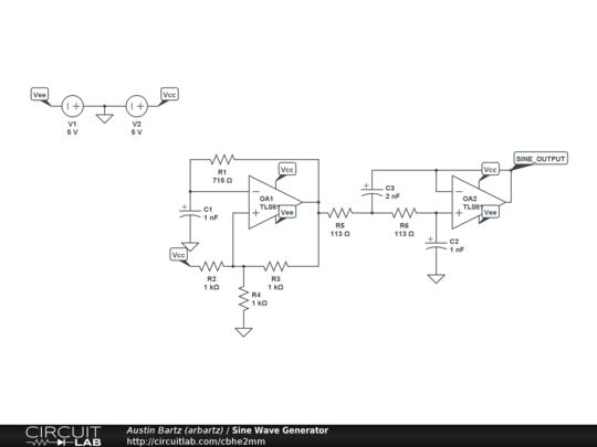 Sine Wave Generator - CircuitLab