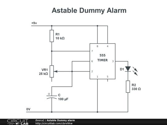 Groovy Astable Dummy Alarm Circuitlab Wiring Database Scataclesi4X4Andersnl