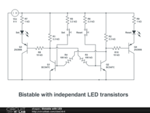 Bistable with LED