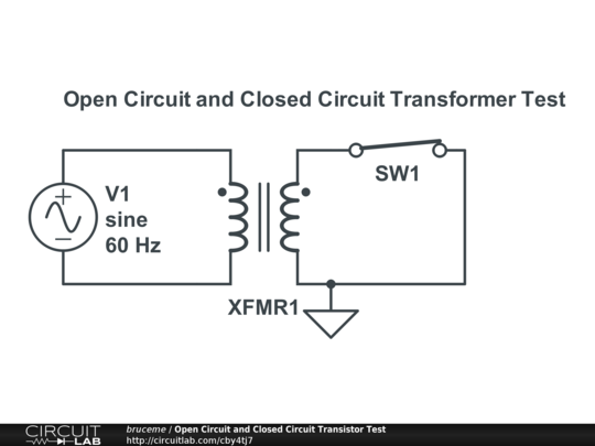 Open Closed Circuit Testers : Open circuit and closed transistor test circuitlab