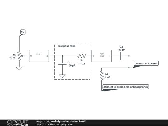 Melody Maker Circuit Diagram.Melody Maker Main Circuit Circuitlab