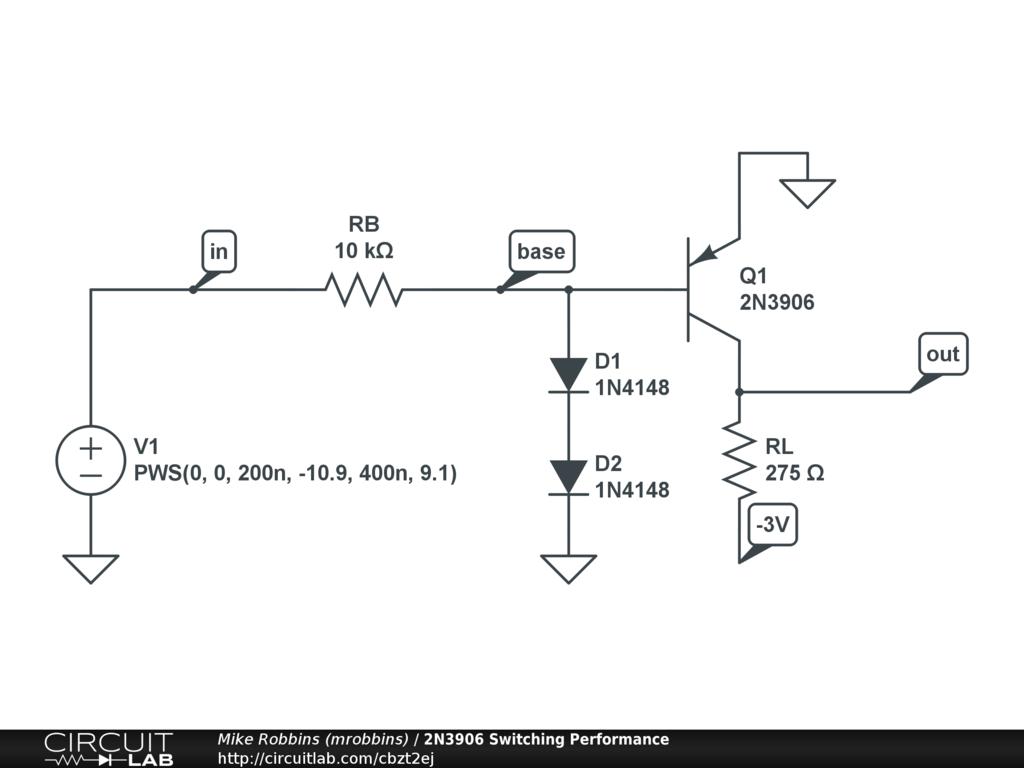 2n3906 Switching Performance Circuitlab Circuit Diagram