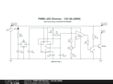 PWM LED Dimmer - 12V 8A (96W)