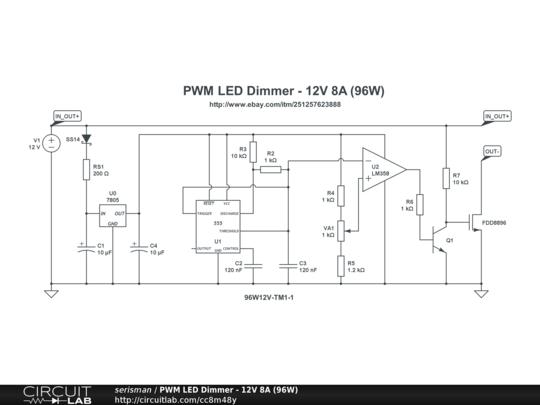 pwm led dimmer 12v 8a 96w circuitlab rh circuitlab com