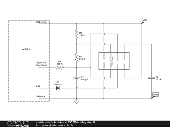 Arduino watchdog circuit circuitlab