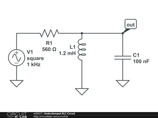 underdamped rlc circuit