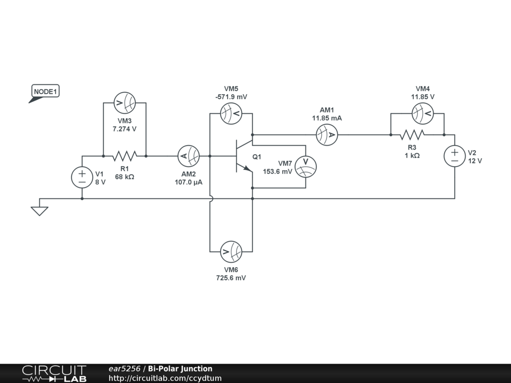Npn Bi Polar Transistor Saturation Circuitlab Support Forum Diagram Avatar For Ear5256