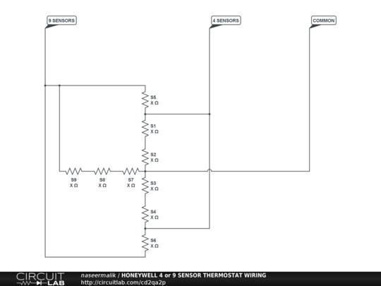 Honeywell 4 Or 9 Sensor Thermostat Wiring