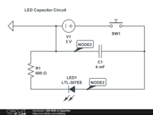 LED With A Capacitor