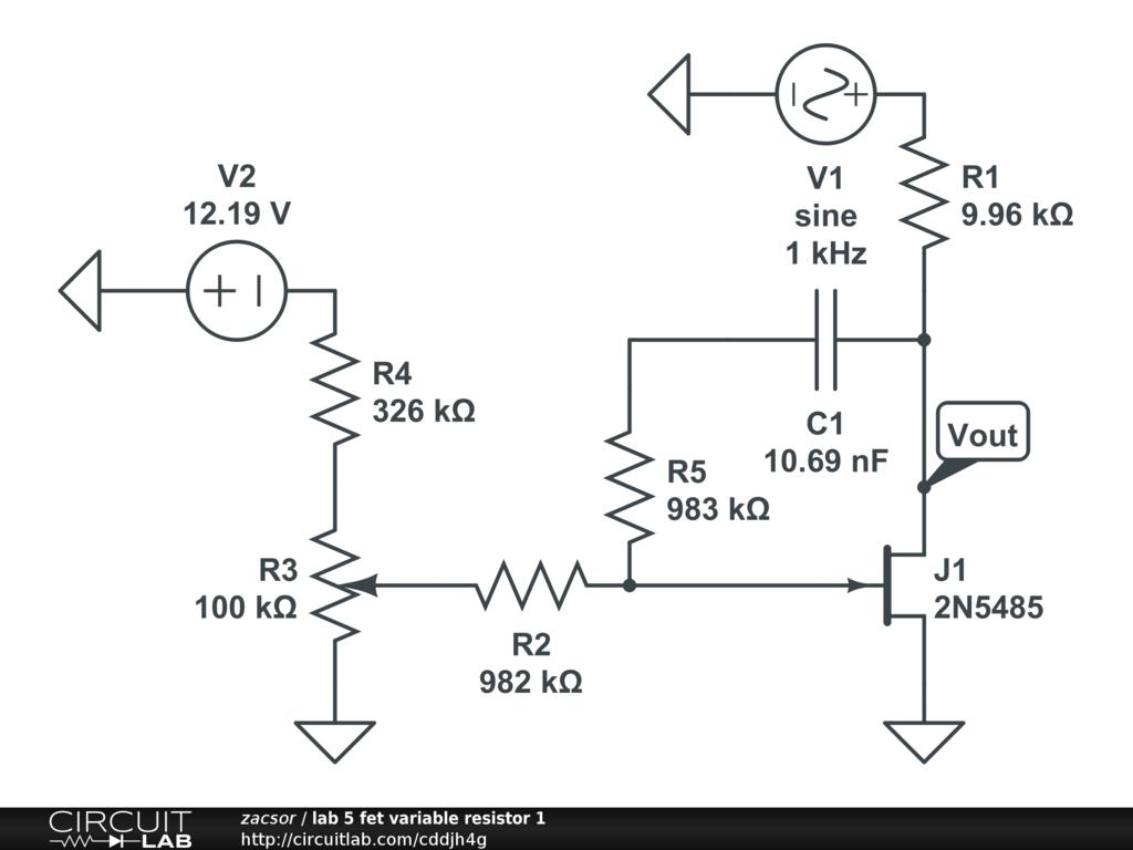lab 5 fet variable resistor 1 - CircuitLab