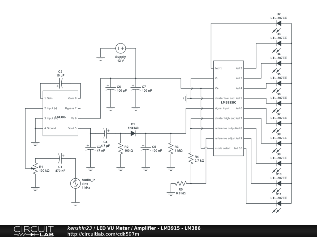 Analyzing A Led Vu Meter Circuit Basic Electronics New To Circuits And Schematics For The Hobbyist What