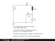 Forcing initial inductor current