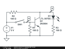 Inverter BJT Circuit
