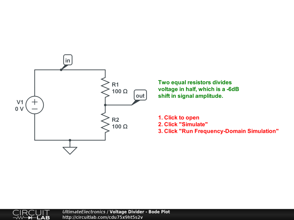 Chapter 2 Example Circuits Ultimate Electronics Book Circuitlab Potential Divider Circuit 1 Multiple Tap Voltage