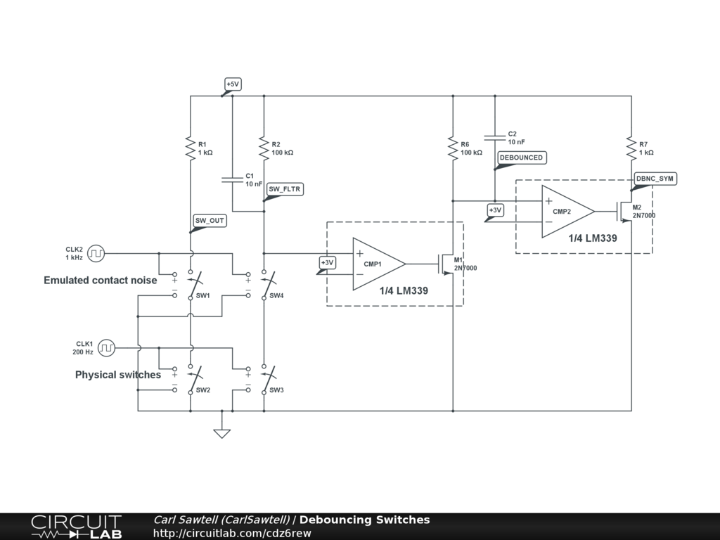 Feature Request Open Collector Comparator Circuitlab Circuits With Hysteresis Design Tool By