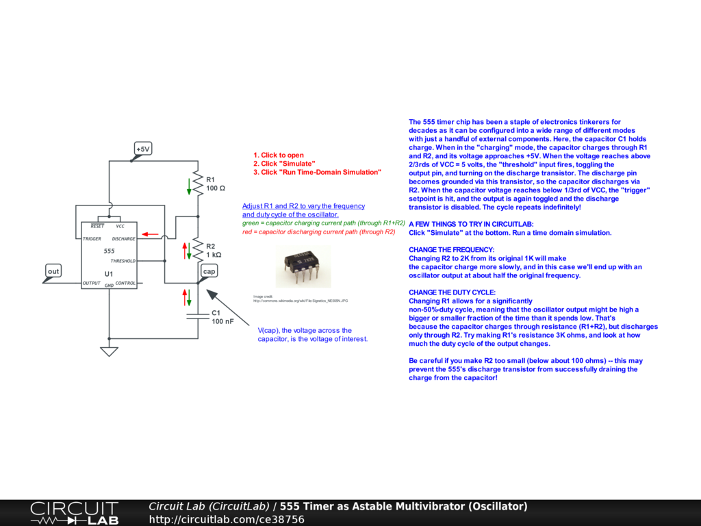 555 Timer As Pulse Width Modulation Pwm Generator Circuitlab Internal Circuit Of Ic Comments