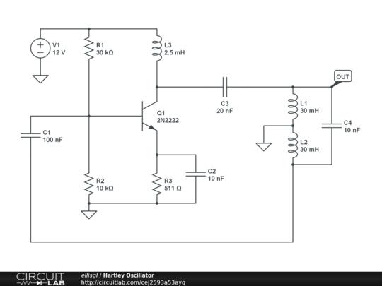 Hartley Oscillator Circuit Simulator | Online Wiring Diagram