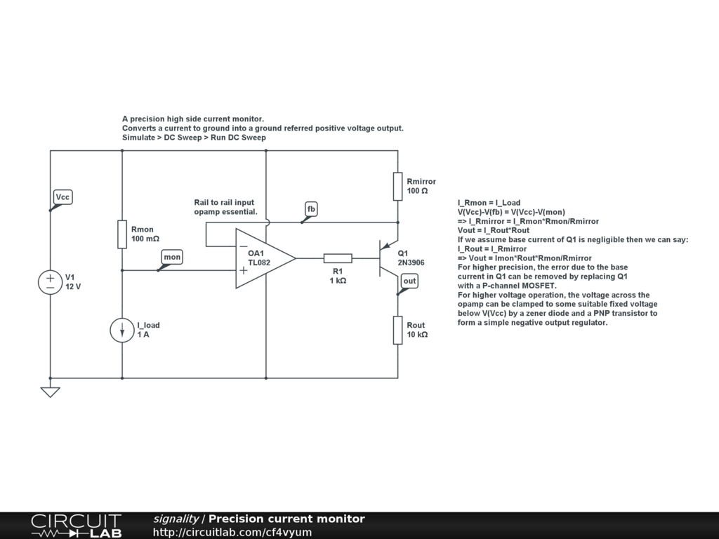 suggestions for measuring current on a 12v rail analog design