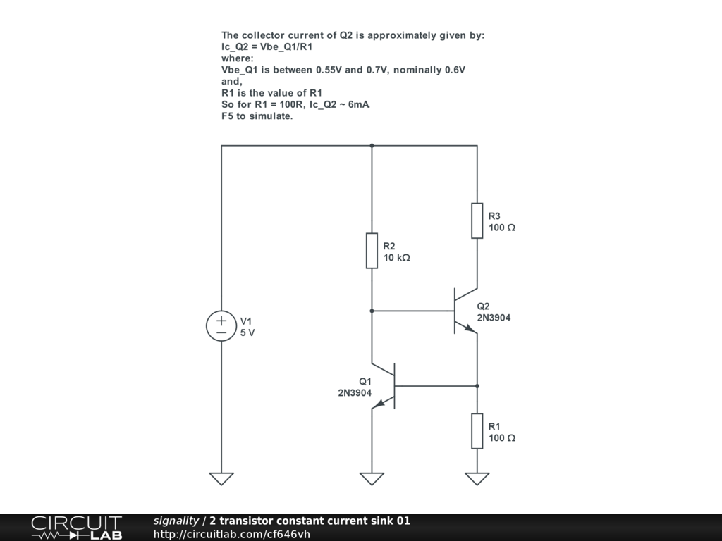 Constant Current Source From A Battery General Discussion Circuit Diagram Is