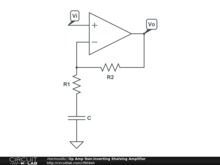 Op Amp Non-inverting Shelving Amplifier