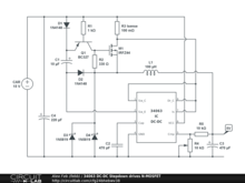 34063 DC-DC Stepdown drives N-MOSFET