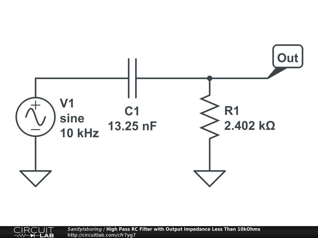 High Pass Rc Filter Circuitlab Circuit Pictures