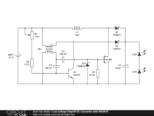 Low voltage StepUP DC Converter with MOSFET