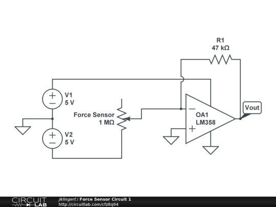force sensor circuit 1