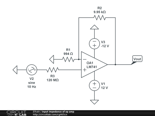 input impedance of op amp