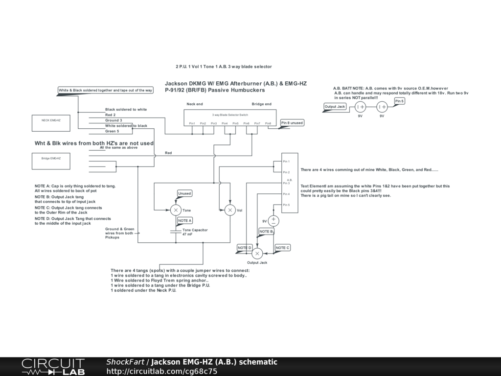 Emg Afterburner Wiring Diagram 30 Images Telecaster Jackson Hz A B Schematic Circuitlab At
