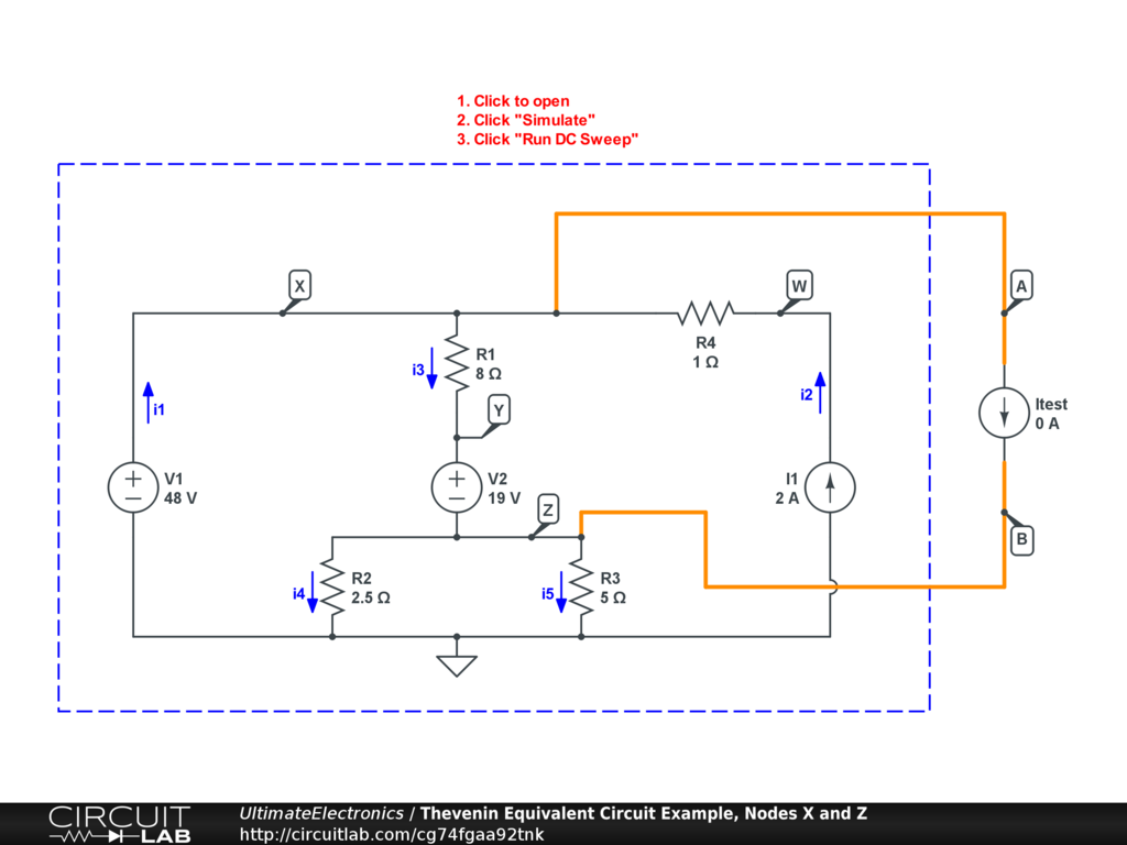 Thevenin Equivalent And Norton Circuits Ultimate Circuit Uses Power Transistors Pair Of 5 X Interactive