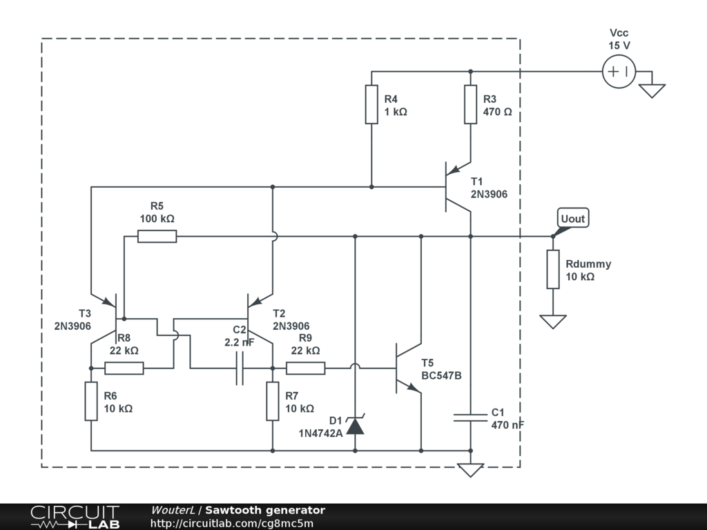 Public Circuits Tagged Transistor Circuitlab Zener Regulator Sawtooth Generator