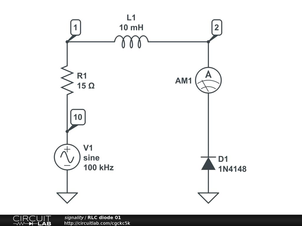rlc diode circuit