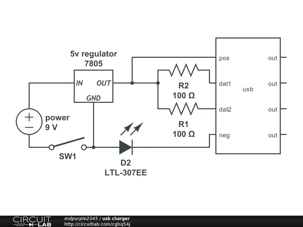 Usb Charger Circuitlab Circuit Diagram