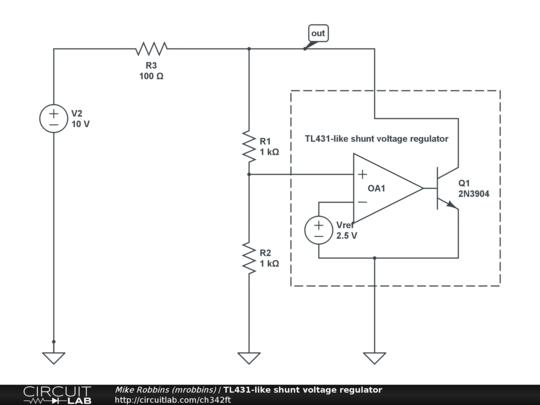 TL431-like shunt voltage regulator - CircuitLab