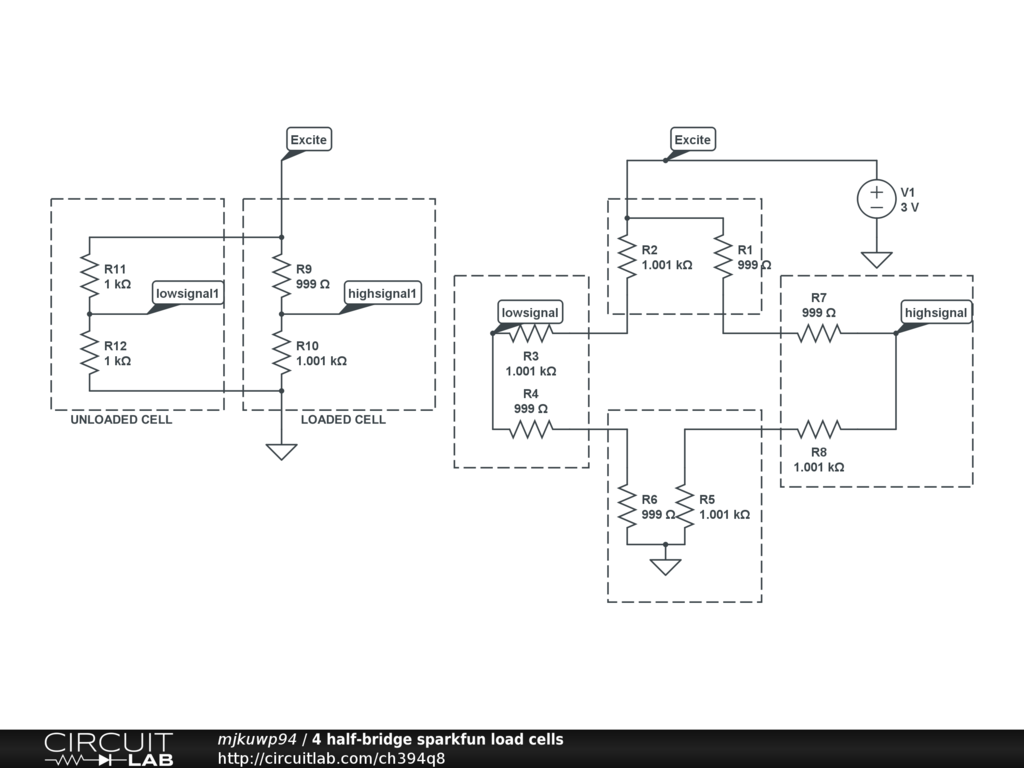 Using Multiple Strain Gauges For Digital Scale Page 1 Wheatstone Bridge Wiring Diagram Https Circuitlabcom Circuit H394q8 Screenshot 1024x768