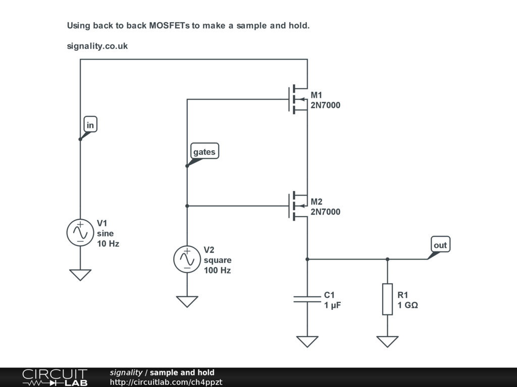 Public Circuits Tagged Mosfet Circuitlab Protection Circuit Sample And Hold