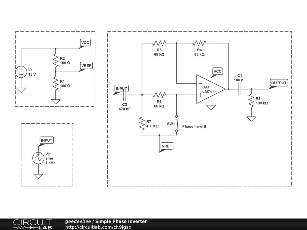 Geedeebees Profile Circuitlab Fuzz Face Circuit Simple Phase Inverter