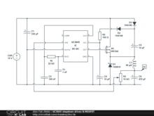 UC3845 stepdown drives N-MOSFET
