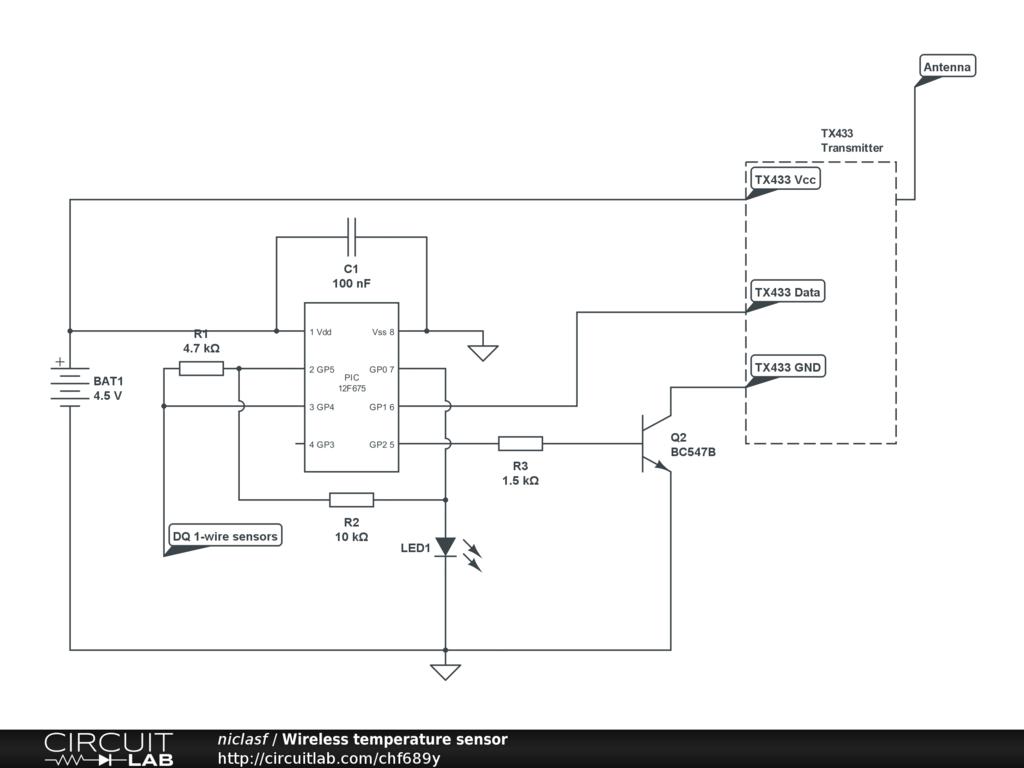 Wireless Temperature Sensor Circuitlab Circuit Schematic