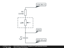 Raspberry Pi Light Dependent Resistor