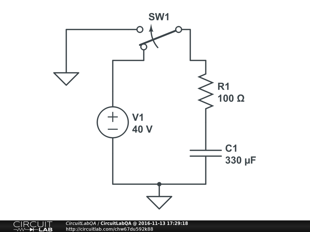 How To Slowly Discharge A Capacitor Electronics Qa Circuitlab Discharging Battery Supply Simple Circuit If