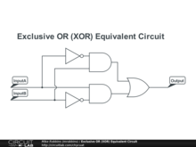 Exclusive OR (XOR) Equivalent Circuit