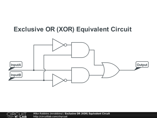 Exclusive OR (XOR) Equivalent Circuit - CircuitLab