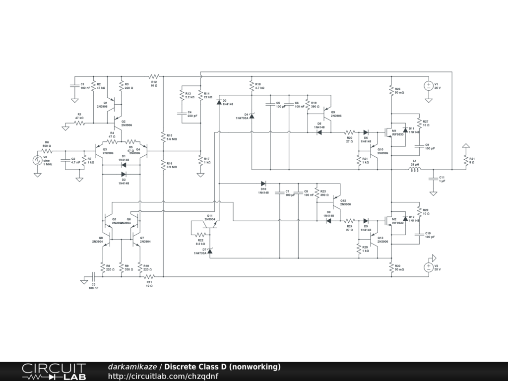 Schematic Diagram Of Class D Amplifier Max98304 Circuit Wiring File Archive Discrete Nonworking Circuitlab