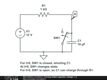 Forcing initial capacitor voltage = 0